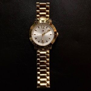 Women's Large Face Tommy Hilfigher Gold Tone Watch